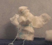 #130 An angel made from feminine hygiene products.